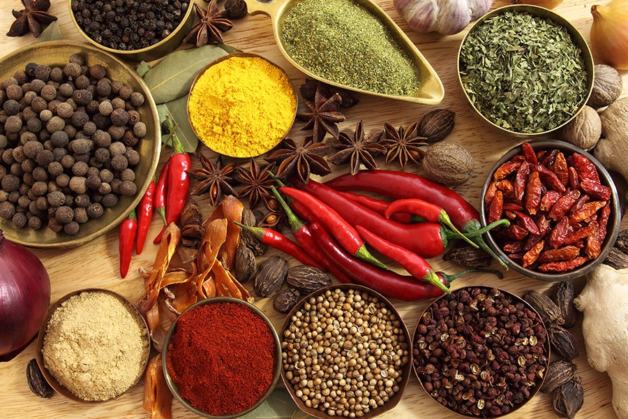 12 herbs and spices