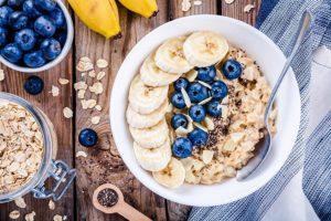Healthy oatmeal breakfast