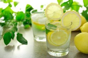 lemon water on an empty stomach