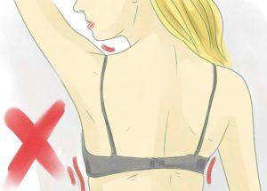 Avoid thin or tight bras