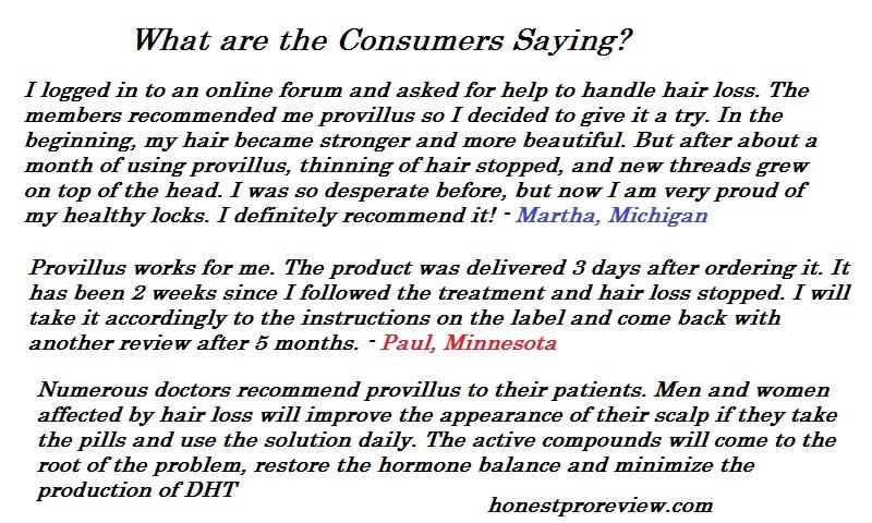 Provillus Customer Saying