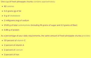 pineapple vitamins and minerals
