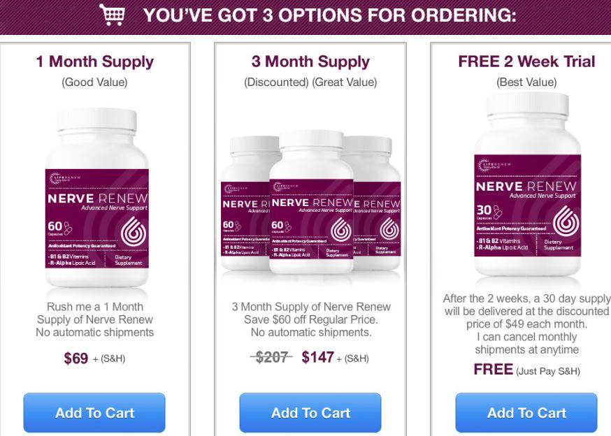 nerve renew price