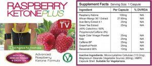 raspberry ketone plus ingredients