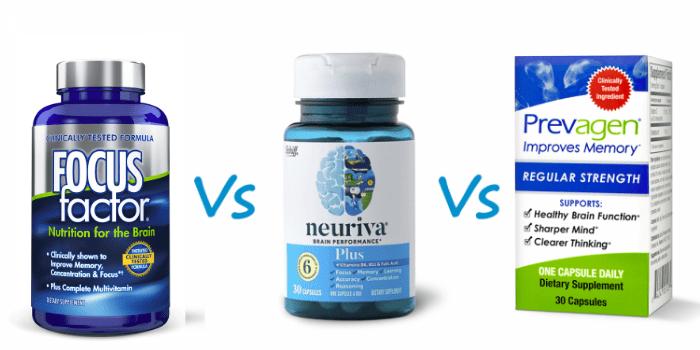 focus factor vs prevagen vs neuriva